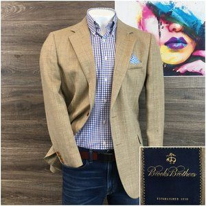 BROOKS BROTHERS Sport Coat Blazer Wool Silk Linen